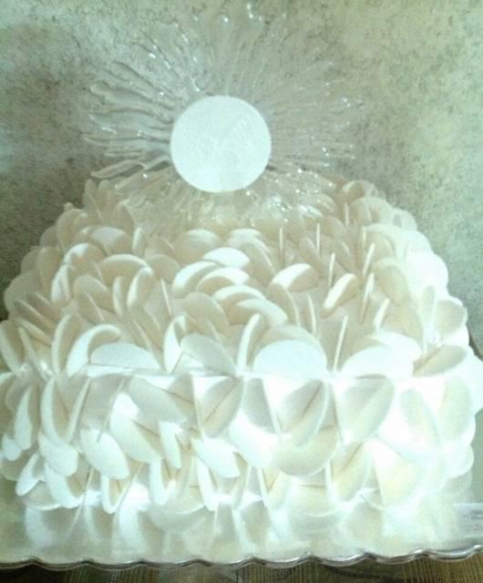 hóstia usada na decoração de bolo