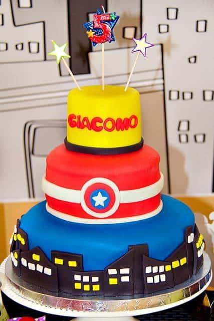 foto de bolo super heróis