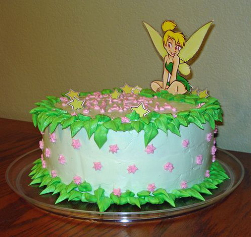 Bolo simples Tinker bell