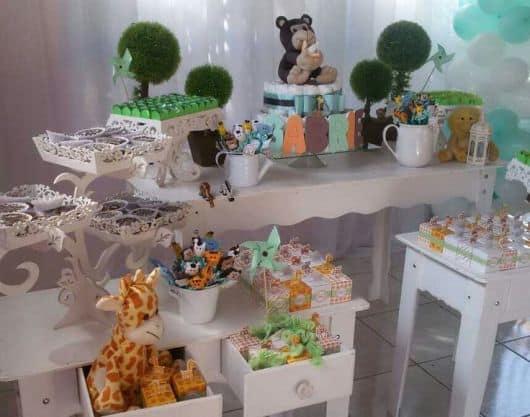 chá de bebê safari provençal