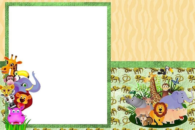 convite chá de bebê safari grátis