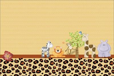 arte para chá de bebê safari