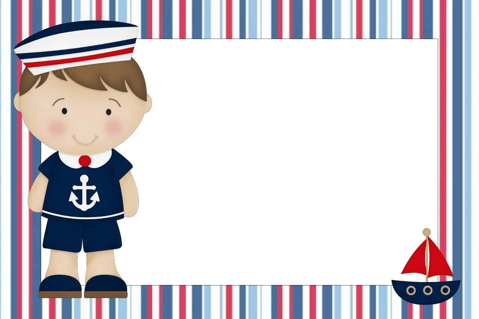 convite chá de bebê marinheiro para imprimir