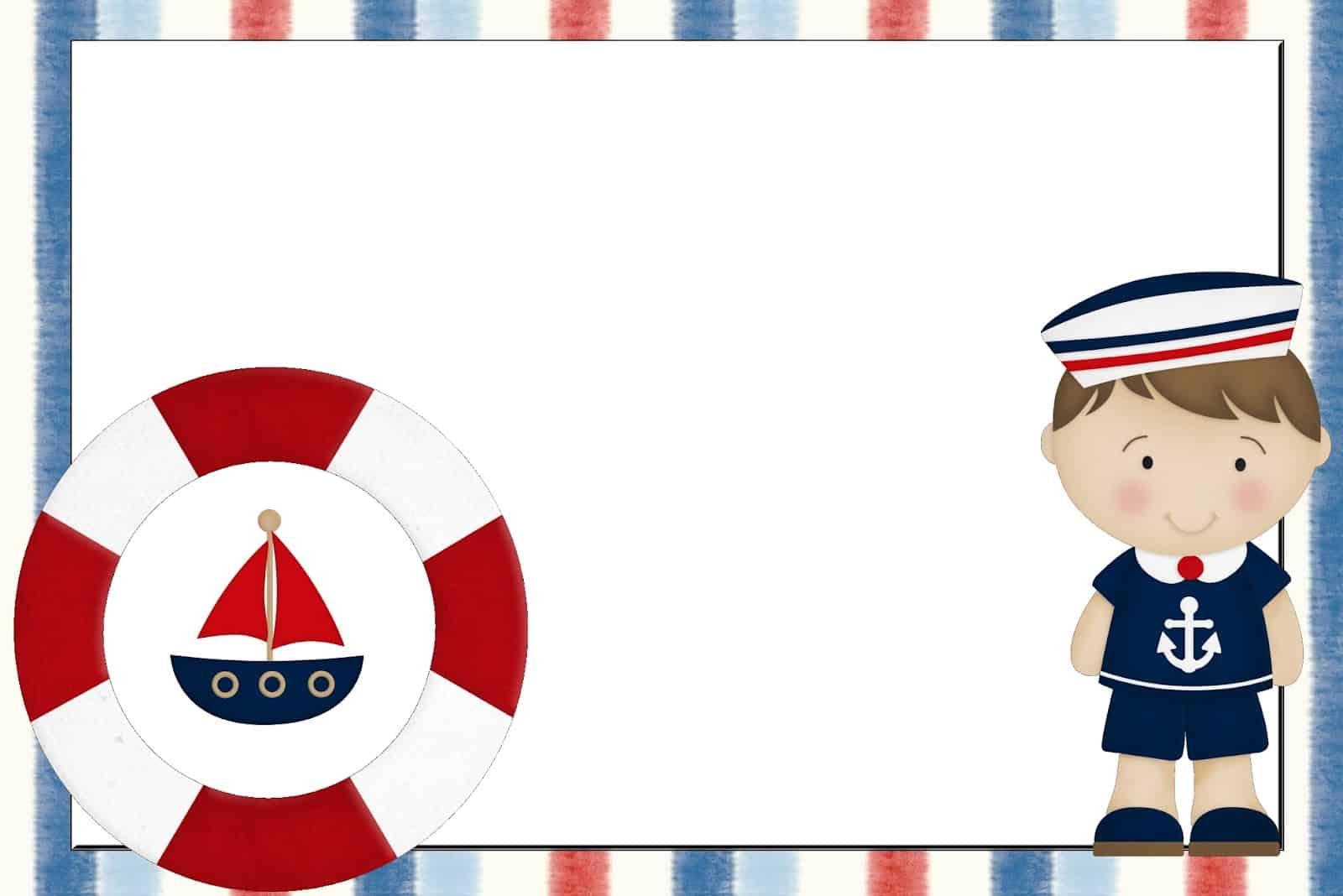 molde de marinheiro baby para convite