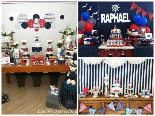fotos de festa de chá tema marinheiro