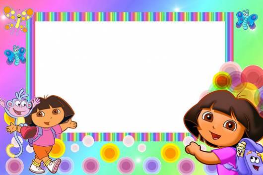 modelo para impressão de convite Dora