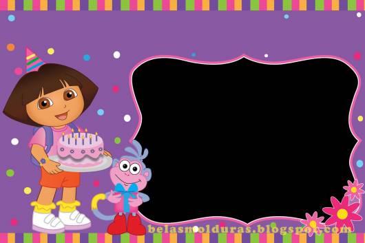 arte de convite Dora simpes