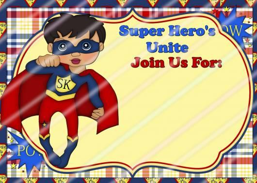 modelo de convite para festa super heróis