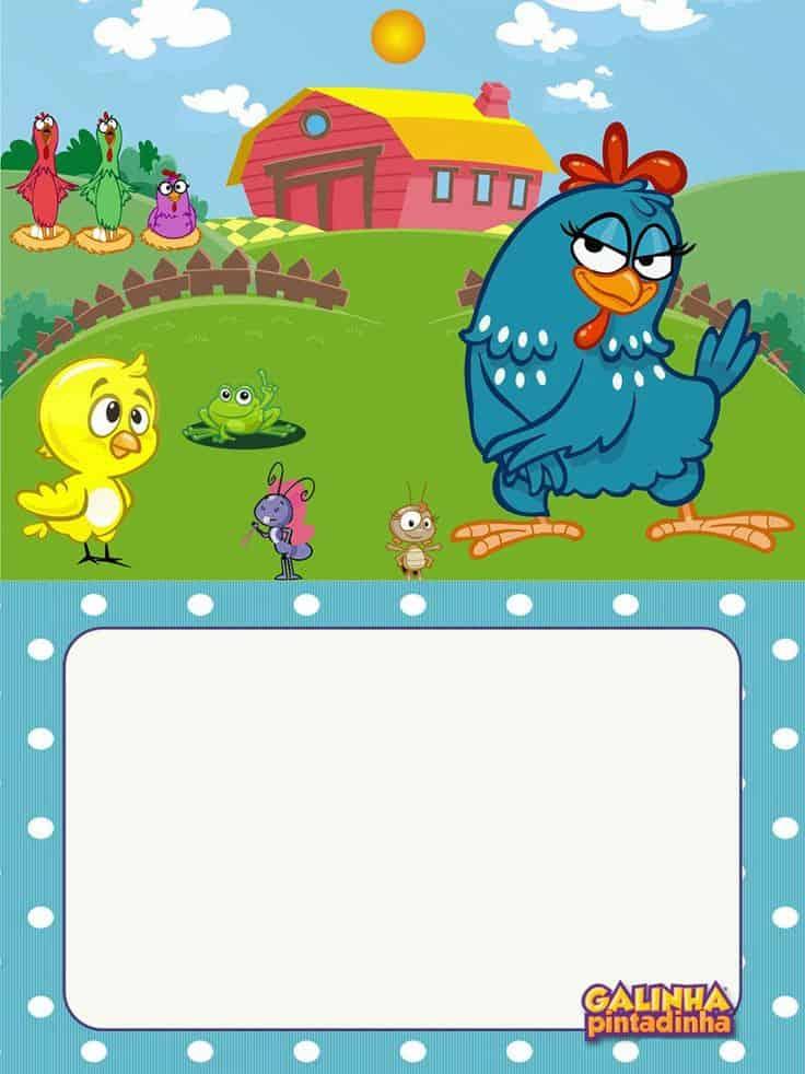 convite galinha pintadinha e turma download