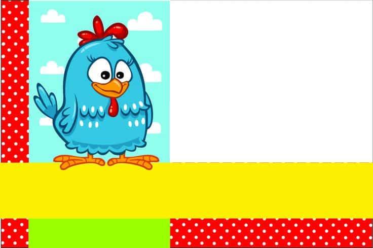 convite galinha pintadinha barato