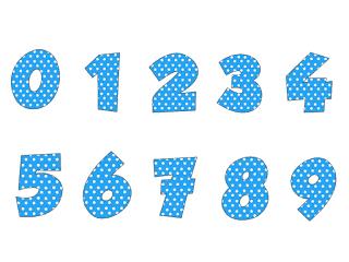 fonte de números temáticos da galinha pintadinha