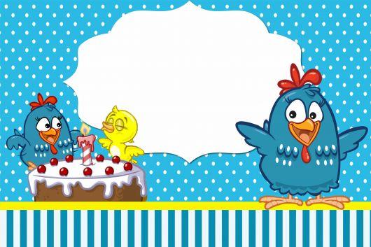 modelo de convite galinha pintadinha grátis