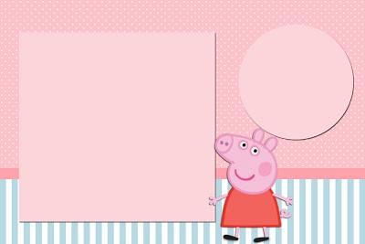 Para quem vai usar decor rosa e azul na festa infantil da Peppa, essa ideia  de convite reúne as duas cores e deixa o comunicado combinando com a festa.