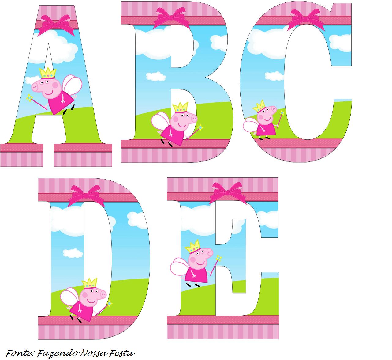 fontes temáticas para aniversário peppa pig