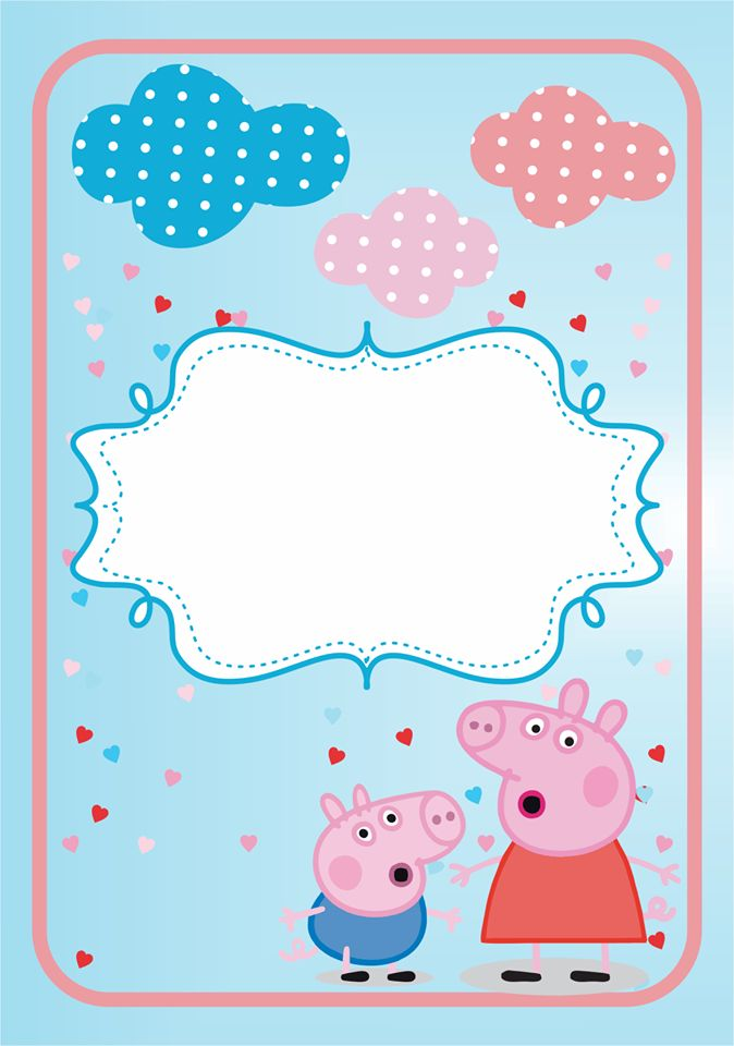 Peppa Pig Birthday Invitation with amazing invitations ideas