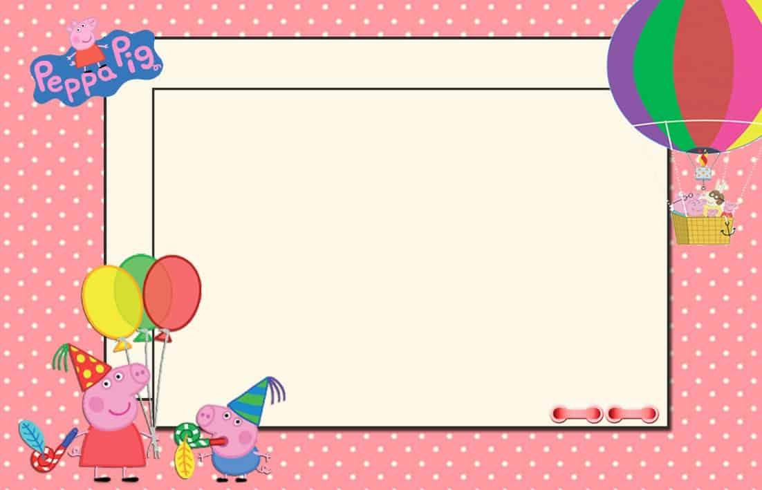 convite peppa pig virtual