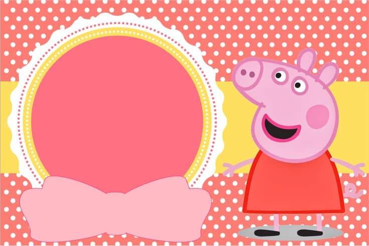 convite personalizado da peppa pig