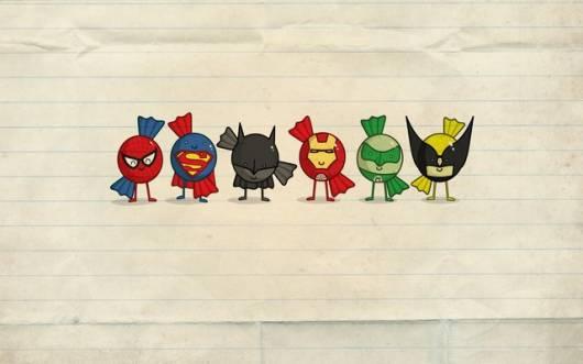 convite festa super heróis simples