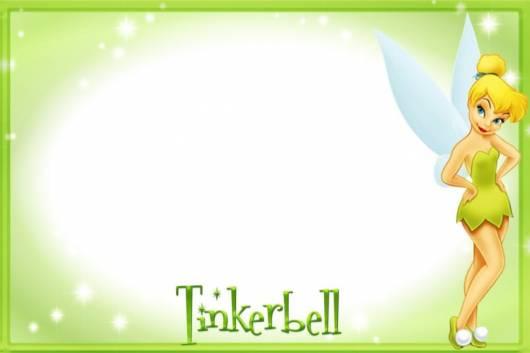 molde convite Tinkerbell