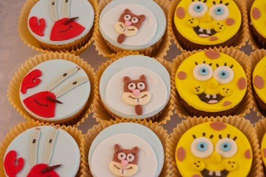 cupcakes dos personagens bob sponja