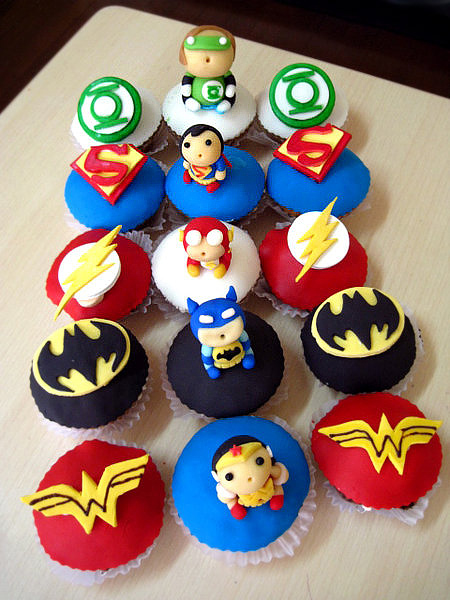 cupcake bolo liga da justiça
