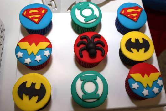 cupcake liga da justiça dicas