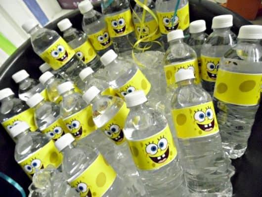 garrafas personalizadas bob esponja