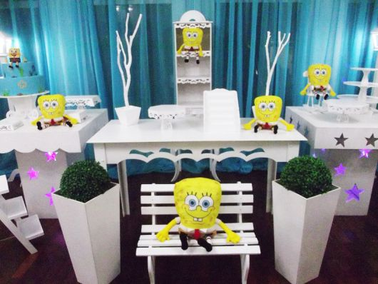 como decorar uma festa infantil do bob esponja