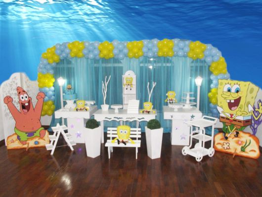 tema para festa do bob esponja fundo do mar