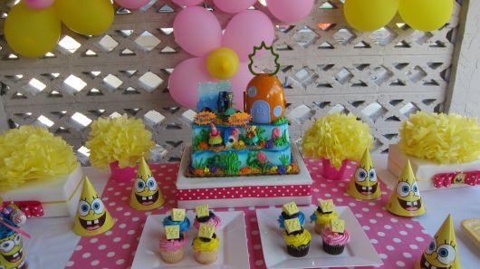 festa do bob esponja para meninas