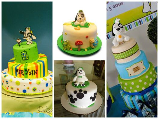 fotos de bolos tema doki