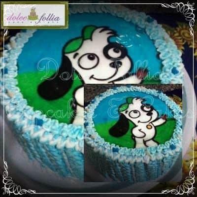 bolo de aniversário tema Doki