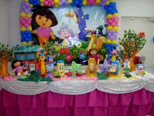 linda decoração com balões