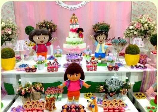 modelo de decoração com tema Dora