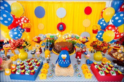FESTA DA GALINHA PINTADINHA 100 Dicas! -> Decoração Festa Infantil Galinha Pintadinha Simples
