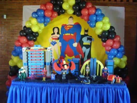 festa infantil liga da justiça como fazer