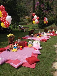 festa infantil piquenique no parque