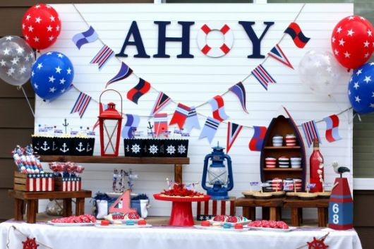 foto decoração festa marinheiro