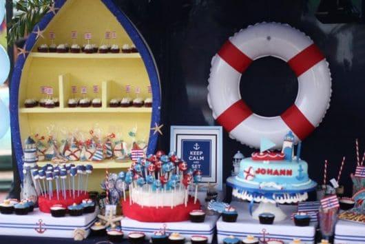 como decorar festa marinheiro