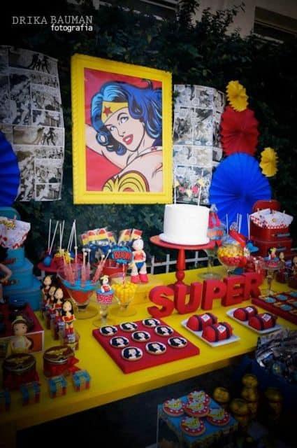 festa infantil da mulher maravilha