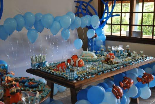 foto com detalhes das forminhas na cor azul