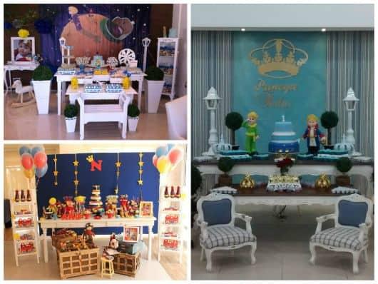 mesas do bolo e doces decoradas