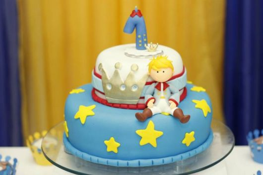foto de bolo 2 andares pequeno príncipe