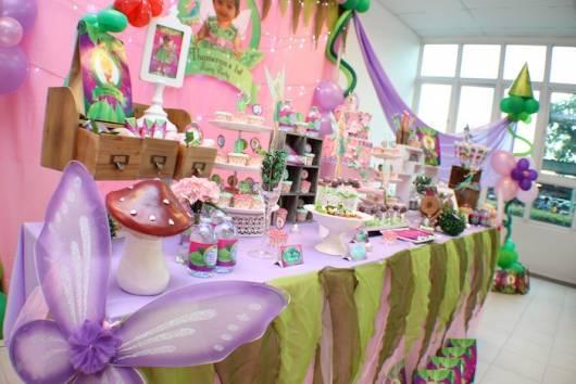 mesa do aniversário Sininho