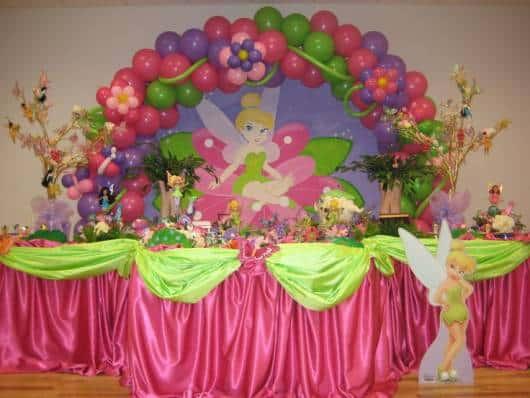 temática rosa Tinker Bell