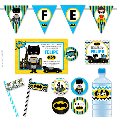 ideia para kit festa do batman