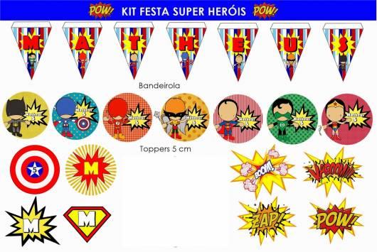modelo de kit festa super heróis