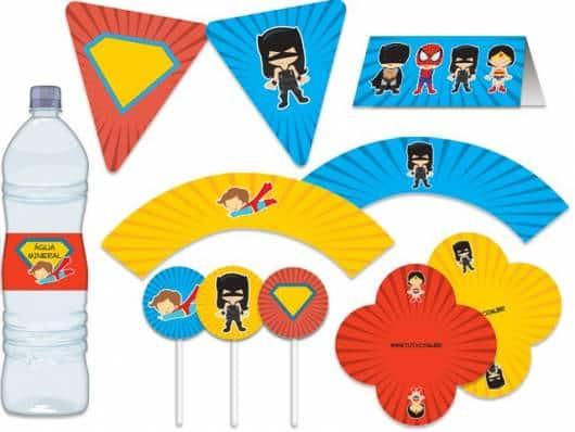 kit festa super heróis simples