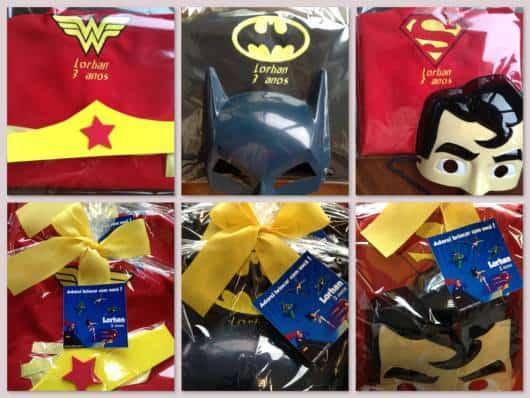 lindas fantasias de super heróis como lembrancinha
