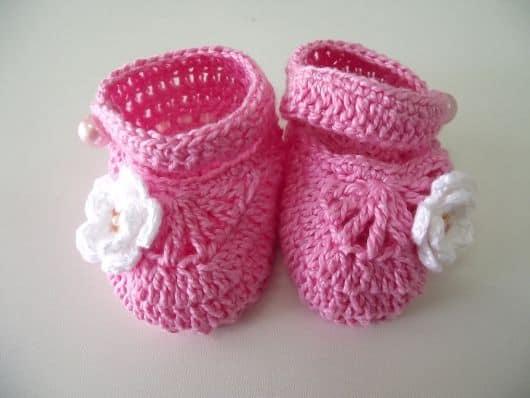 sapatinho rosa infantil